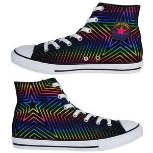New Converse chuck taylor rainbow star hi sneakers